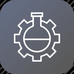 data, glass, optimization, preferences, settings, tube, web icon