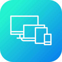 computer, device, electronic, laptop, mobile, tab, technology icon