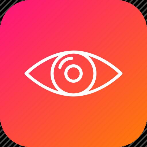 eye, find, future, idea, mission, view, vision icon