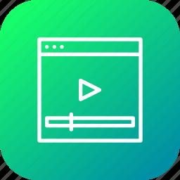 marketing, optimization, seo, video, web, webpage, youtube icon