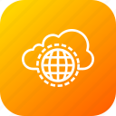 cloud, data, internet, safe, skydrive, storage, website icon