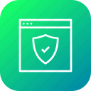 access, connection, protection, secure, security, shield, website icon