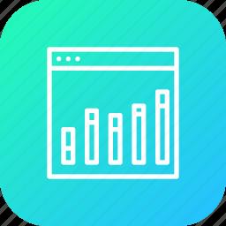 analysis, analytics, chart, column, graph, seo, web icon