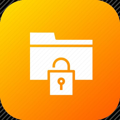 access, documents, folder, holder, nopassword, security, unlock icon