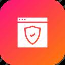 optimization, page, secure, seo, shield, webpage, website