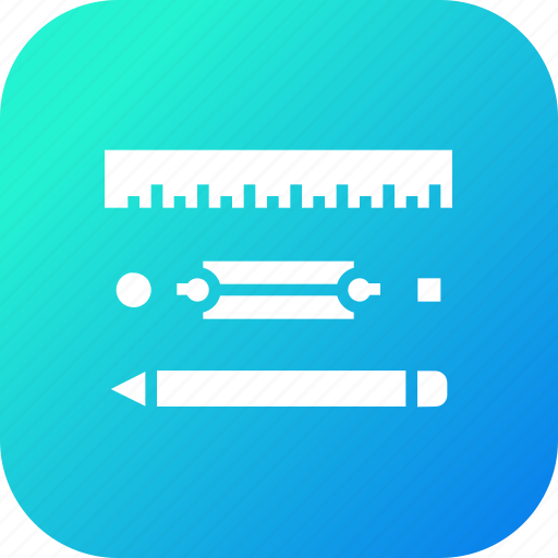 Drawing, geometry, pen, pencil, ruler, stationary icon - Download on Iconfinder