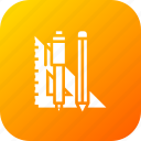 angle, degree, draw, mathematics, measure, pencil, write icon