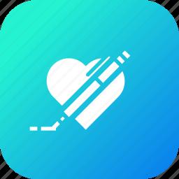 draw, favorite, heart, like, pen, pencil, write icon