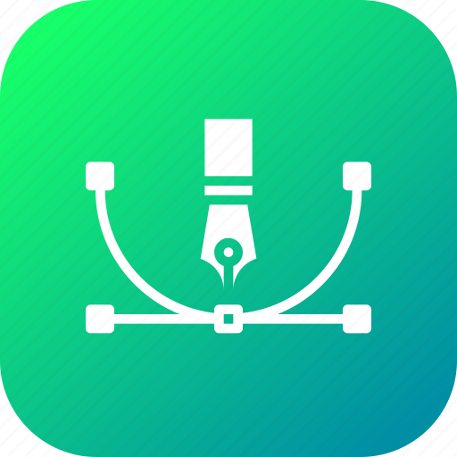 anchor, bezier, curve, design, draw, shape, tool icon