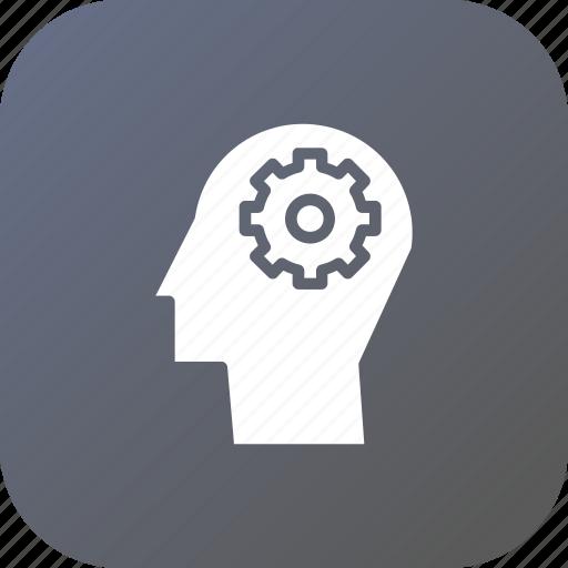 gear, idea, man, mind, preferences, settings, web icon