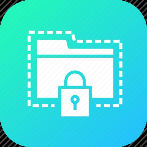 folder, lock, password, protect, secure, seo, tools icon