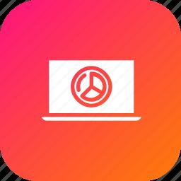 analysis, chart, computer, device, laptop, pie, statics icon
