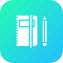 book, education, folder, notebook, office, pen, pencil icon