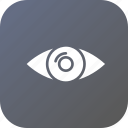 eye, future, idea, mission, search, view, vision icon