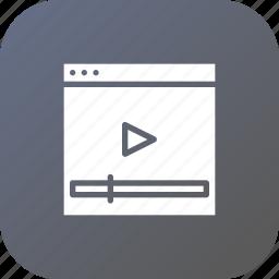 marketing, optimization, page, seo, video, webpage, youtube icon