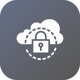 cloud, data, lock, optimization, protected, safe, secure icon