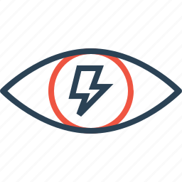 bolt, electricity, eye, idea, mission, search, vision icon