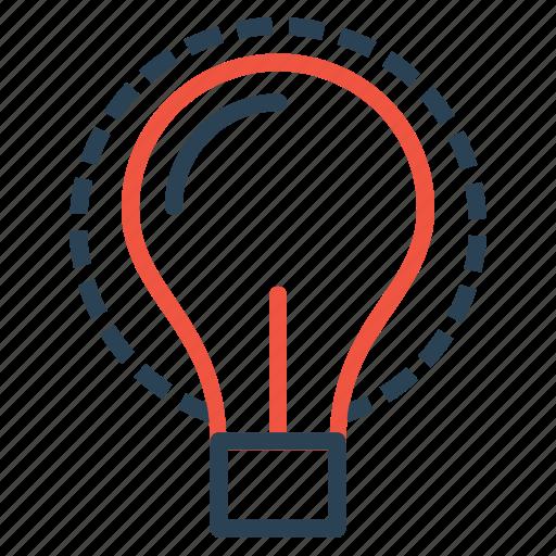 bulb, idea, imagination, innovation, invention, lamp, light icon