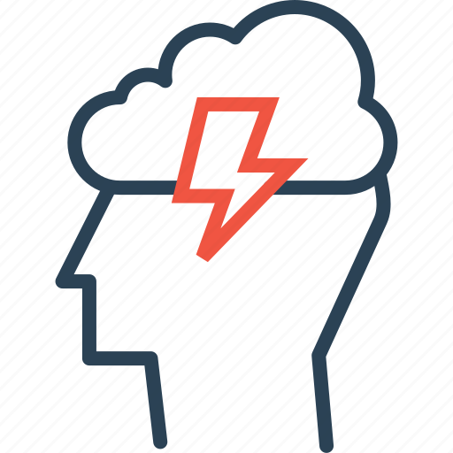 Cloud, idea, innovation, invention, lightning, man, person icon - Download on Iconfinder