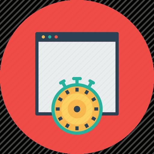 measure, optimization, response, speed, time, webpage, website icon