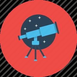 astronomy, find, search, seo, stars, telescope, web icon