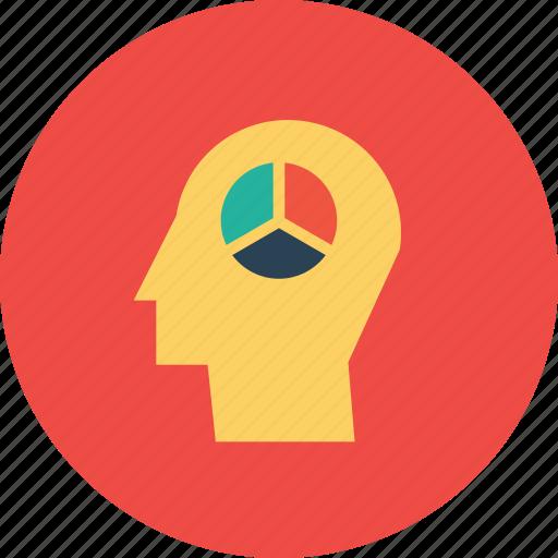 analysis, creative, idea, man, performance, seo, statics icon