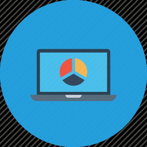 analysis, business, chart, graph, laptop, pie, statics icon