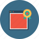 award, badge, bookmark, favorite, seo, star, window icon