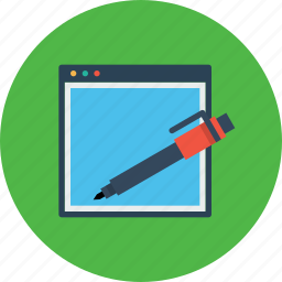 copyright, edit, pen, seo, tools, webpage, website icon