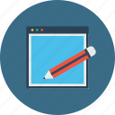 copyright, edit, pencil, seo, tools, webpage, website