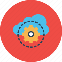 cloud, data, management, optimization, preferences, security, settings icon