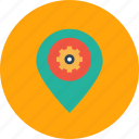 market, optimization, pin, preferences, seo, settings icon