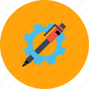 gear, optimization, pen, preferences, seo, settings, web icon