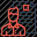 resume, avatar, employee, portfolio, document, shortlisted, man