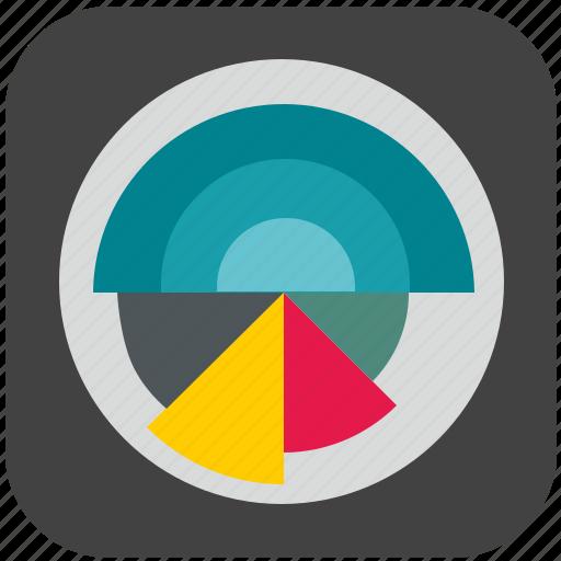 chart, color, diagram, economic, pie, selection icon