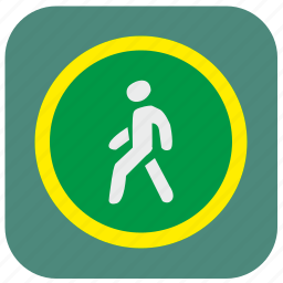 color, green, light, motion, round, traffic icon