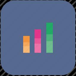 chart, data, economic, economics, grow, value icon