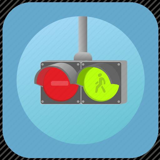 control, light, motion, road, traffic icon