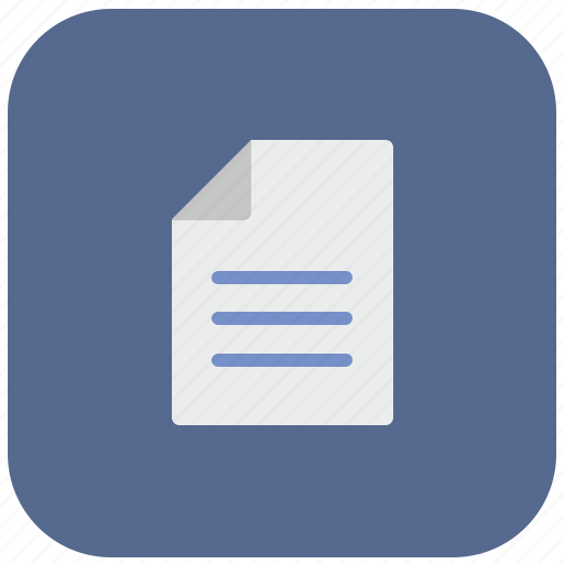 doc, document, editor, file, list, paper, print icon