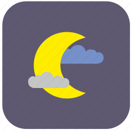 air, cloud, condition, moon, nature, weather icon