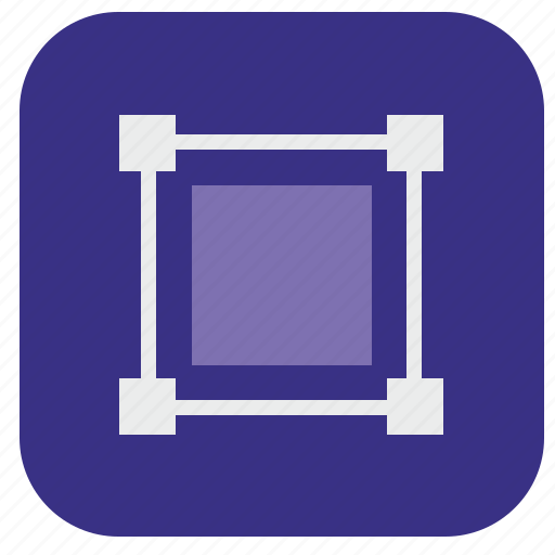 editor, model, object, square, transform icon