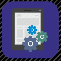 book, ebook, ipad, options, read, reader, settings icon