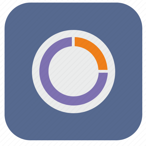 chart, circle, data, piece, report icon