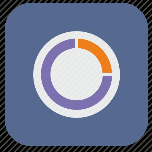 chart, circle, data, piece, report icon