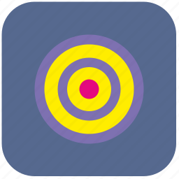 context, darts, round, target icon