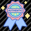 authentic, store, web icon