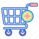 add, cart, store, to, web icon