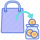 earn, point, store icon