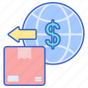 estimated, fees, import, store icon