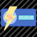 flash, sale, store icon